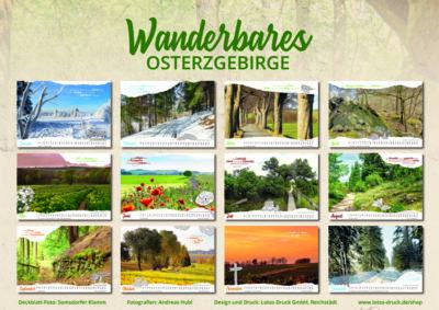 Heimatkalender Osterzgebirge 2021, regionaler Kalender Dippoldiswalde, Altenberg und Umgebung, auch als Werbegeschenk geeignet